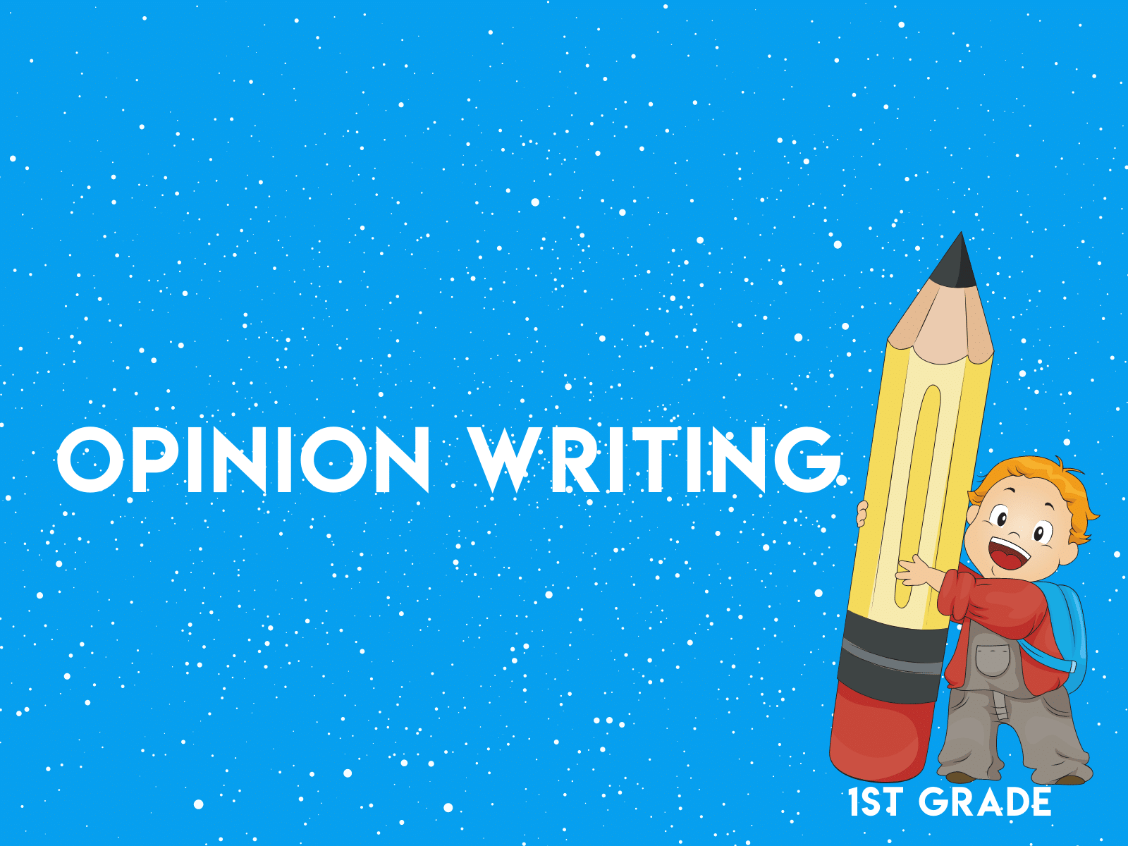 Practice opinion writing using the OREO technique with this free first grade writing resource.