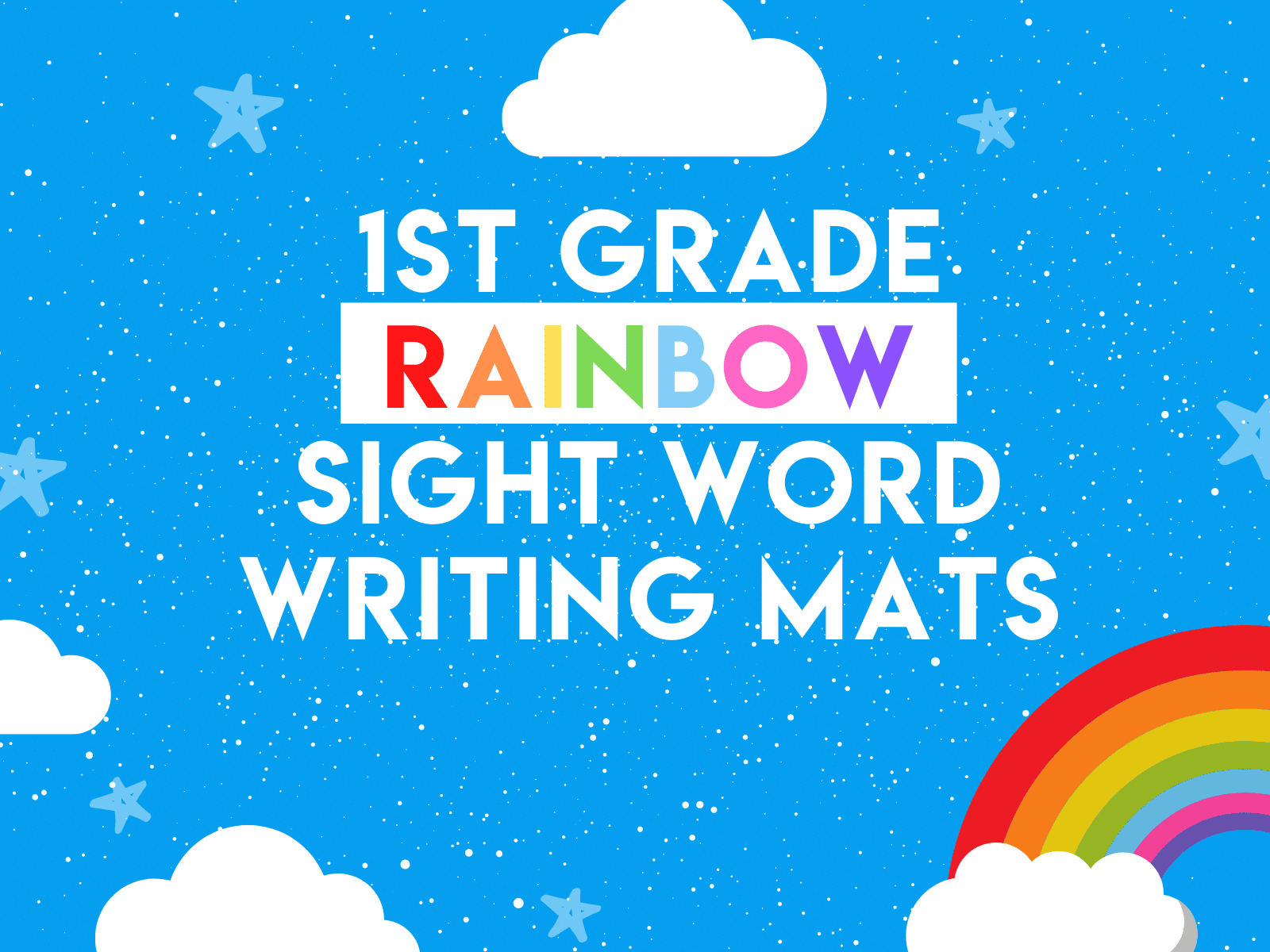 Free sight word writing mat for first graders.