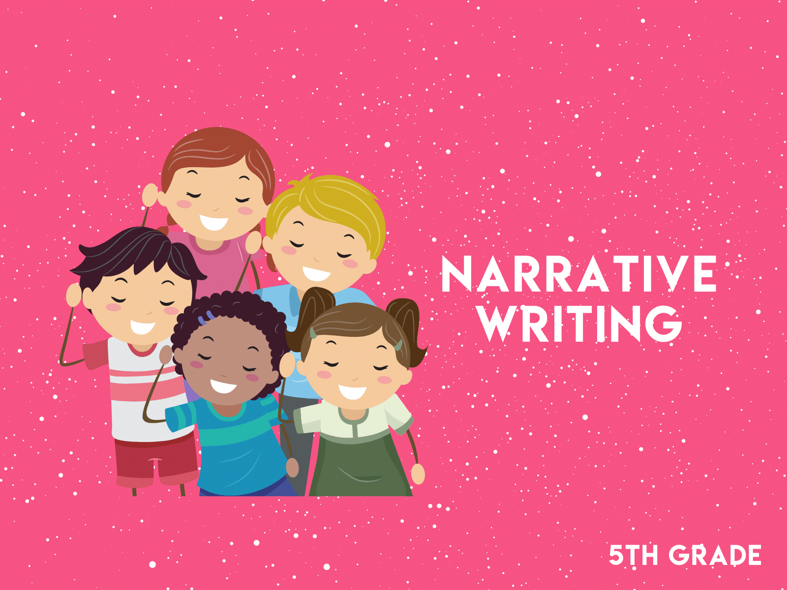 Narrative workbook for fifth grade writing practice.