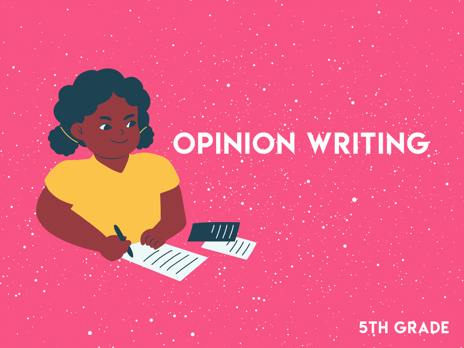 Opinion writing worksheet for fifth graders   Free learning resource