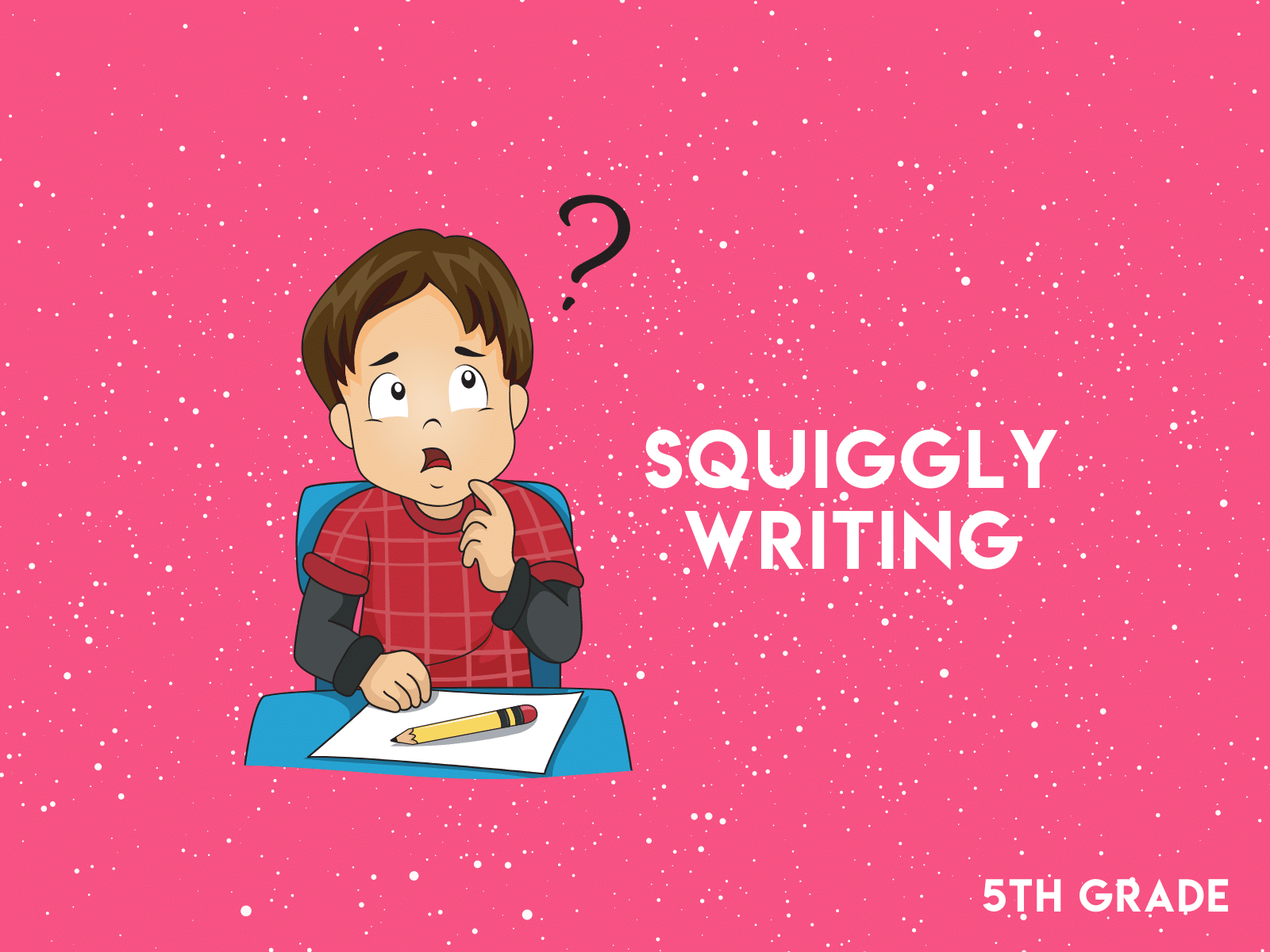 Draw a picture and write a story with this squiggly writing prompt for fifth graders.