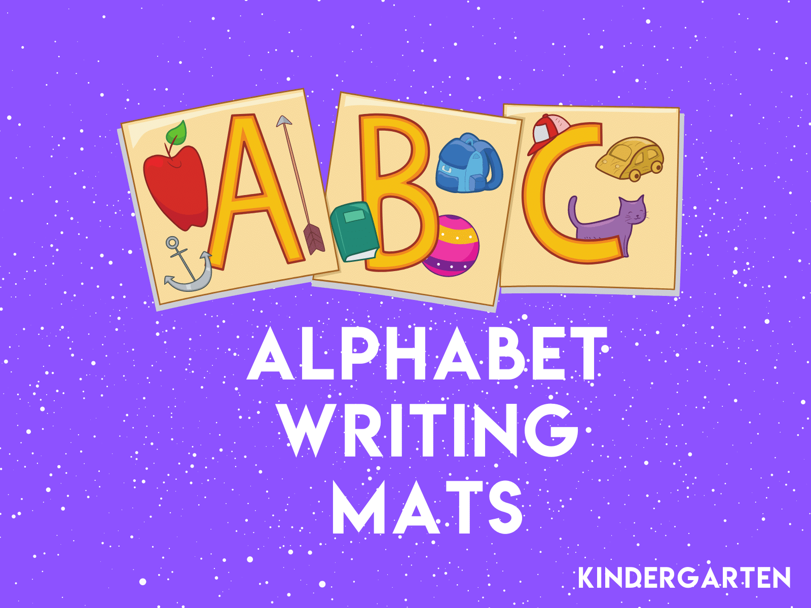 Teach letter writing with these free alphabet writing mats.