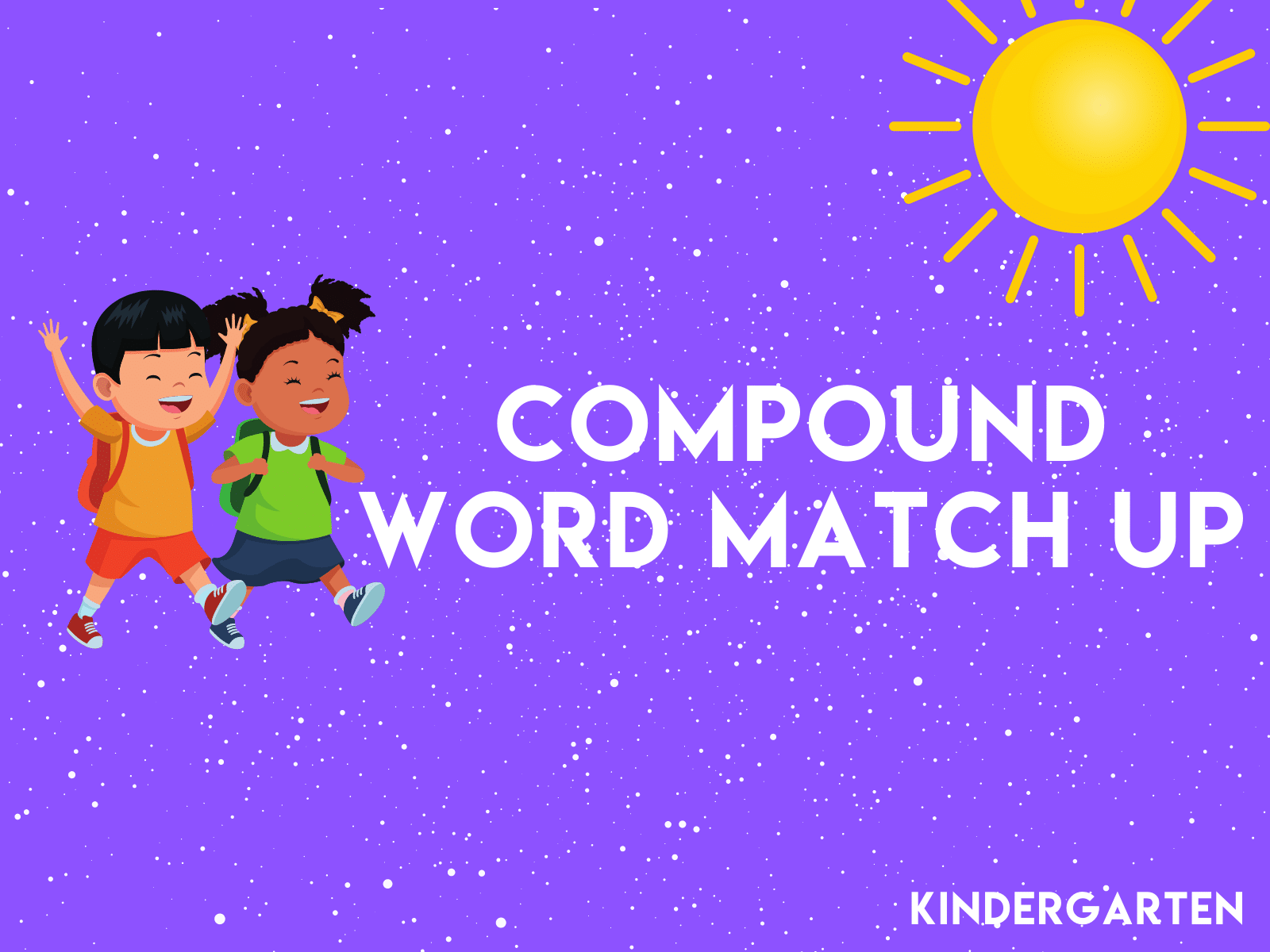 Cut the picture cards, mix them up, and have try this compound word match up with your kindergarten student.