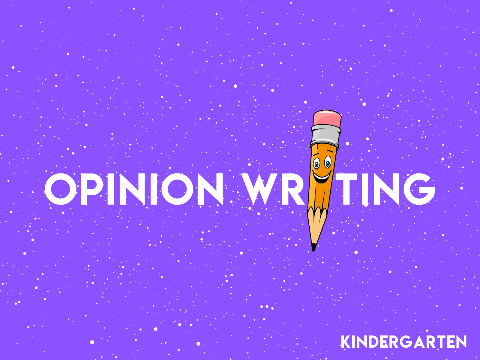 This free kindergarten writing resource will help teach opinion writing using the OREO technique.