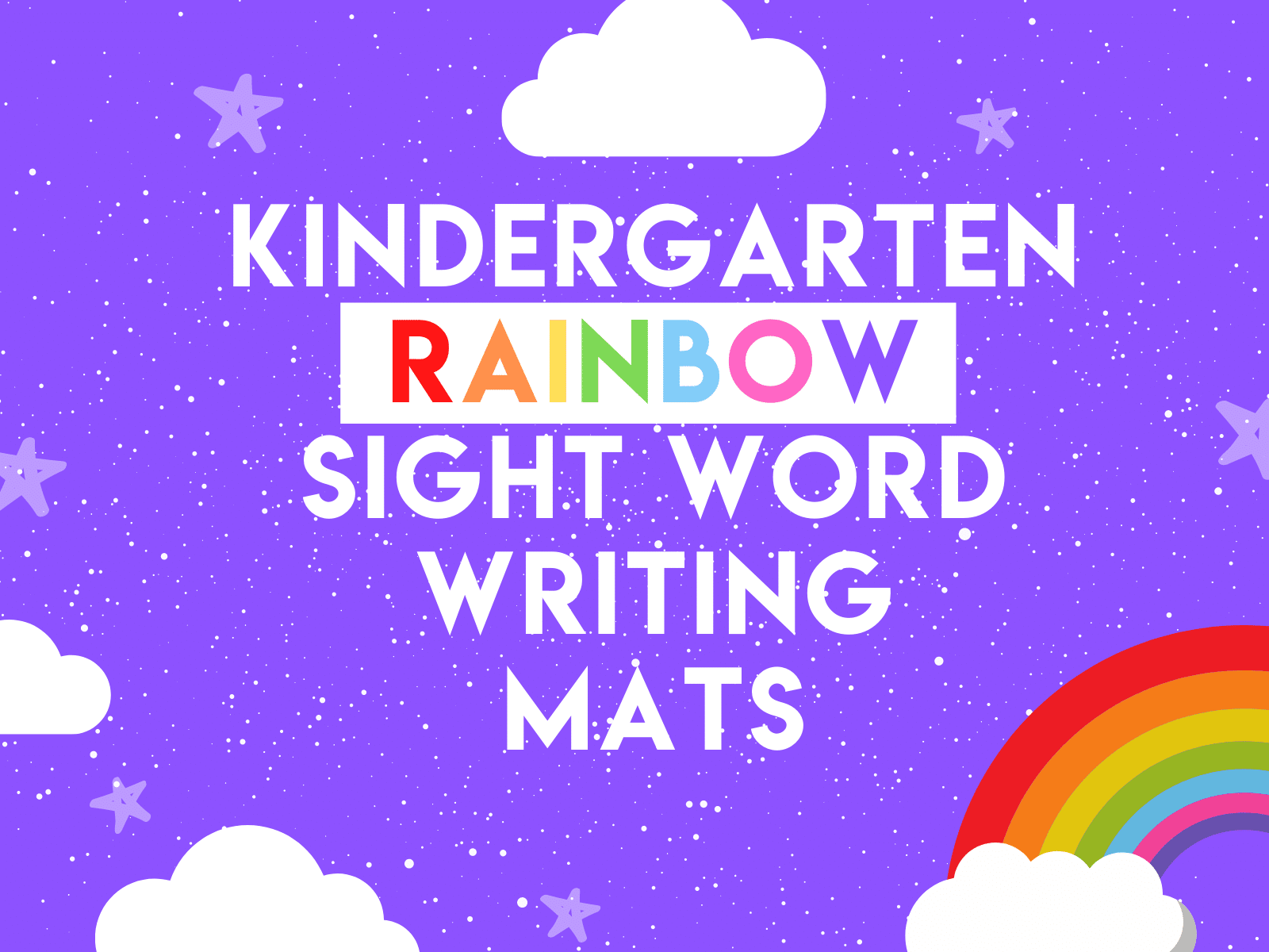 Learn sight words in a fun and interactive way with these rainbow sight word mats for kindergarten.