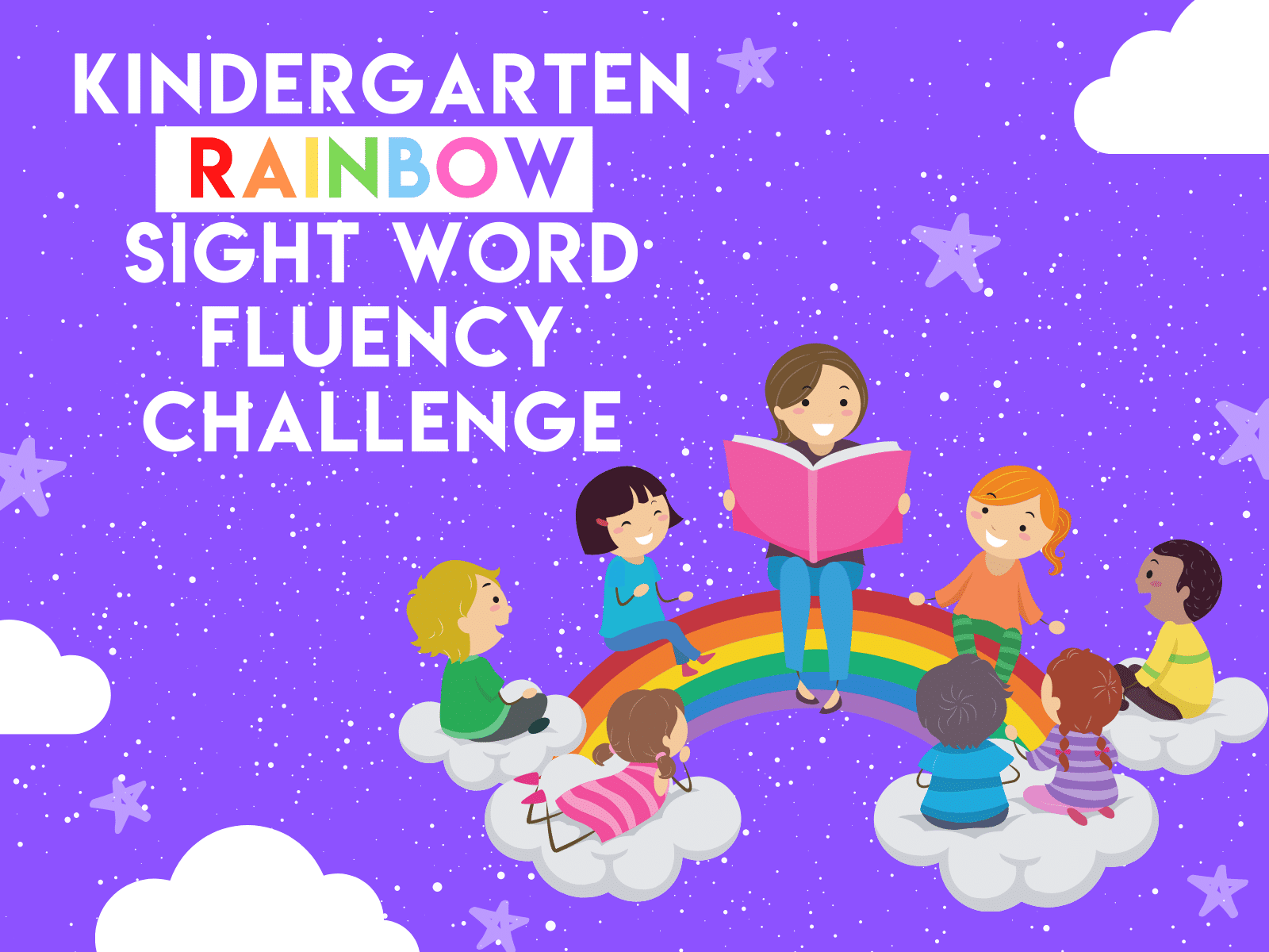 Try this rainbow sight word fluency challenge with your kindergartener with this free learning resource.