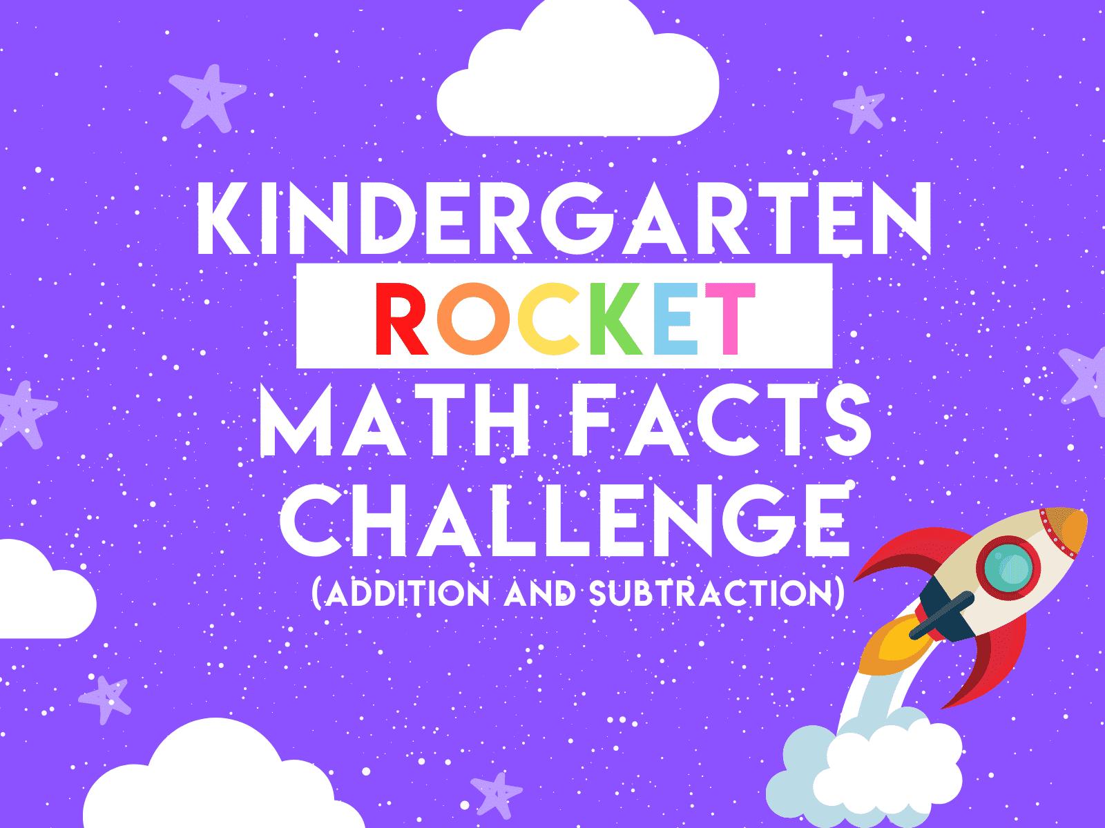 Kindergarten Rocket Math Challenge | Addition and subtraction learning resource for kids