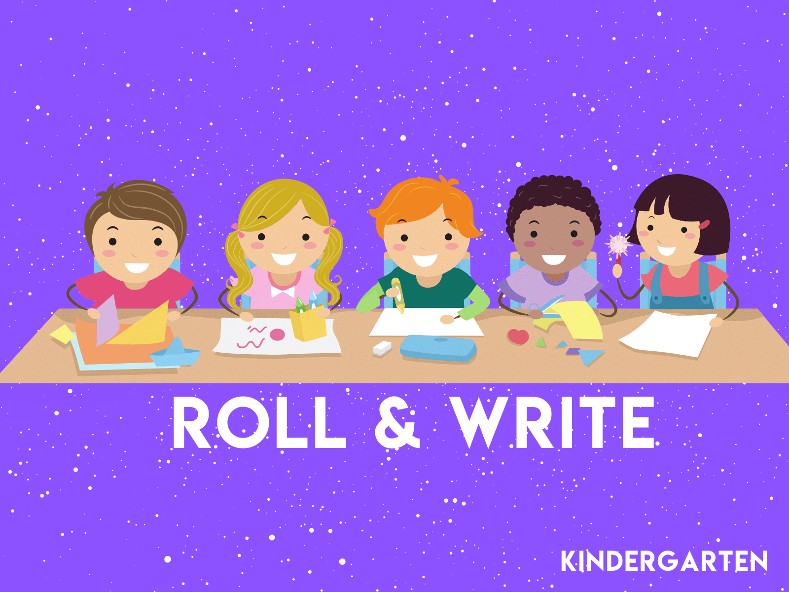 Kindergarten Roll and Write
