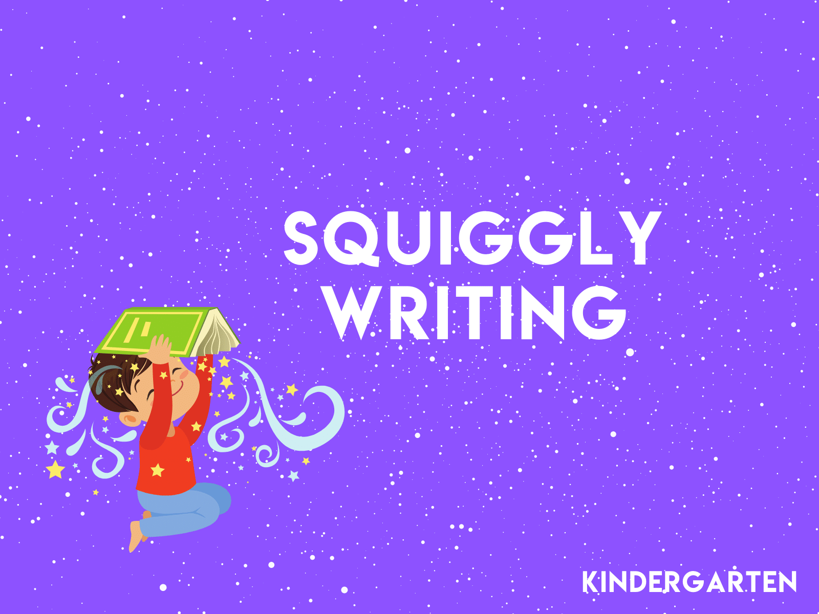 Help your kindergartener tap into their creativity with this squiggly line drawing and writing activity.