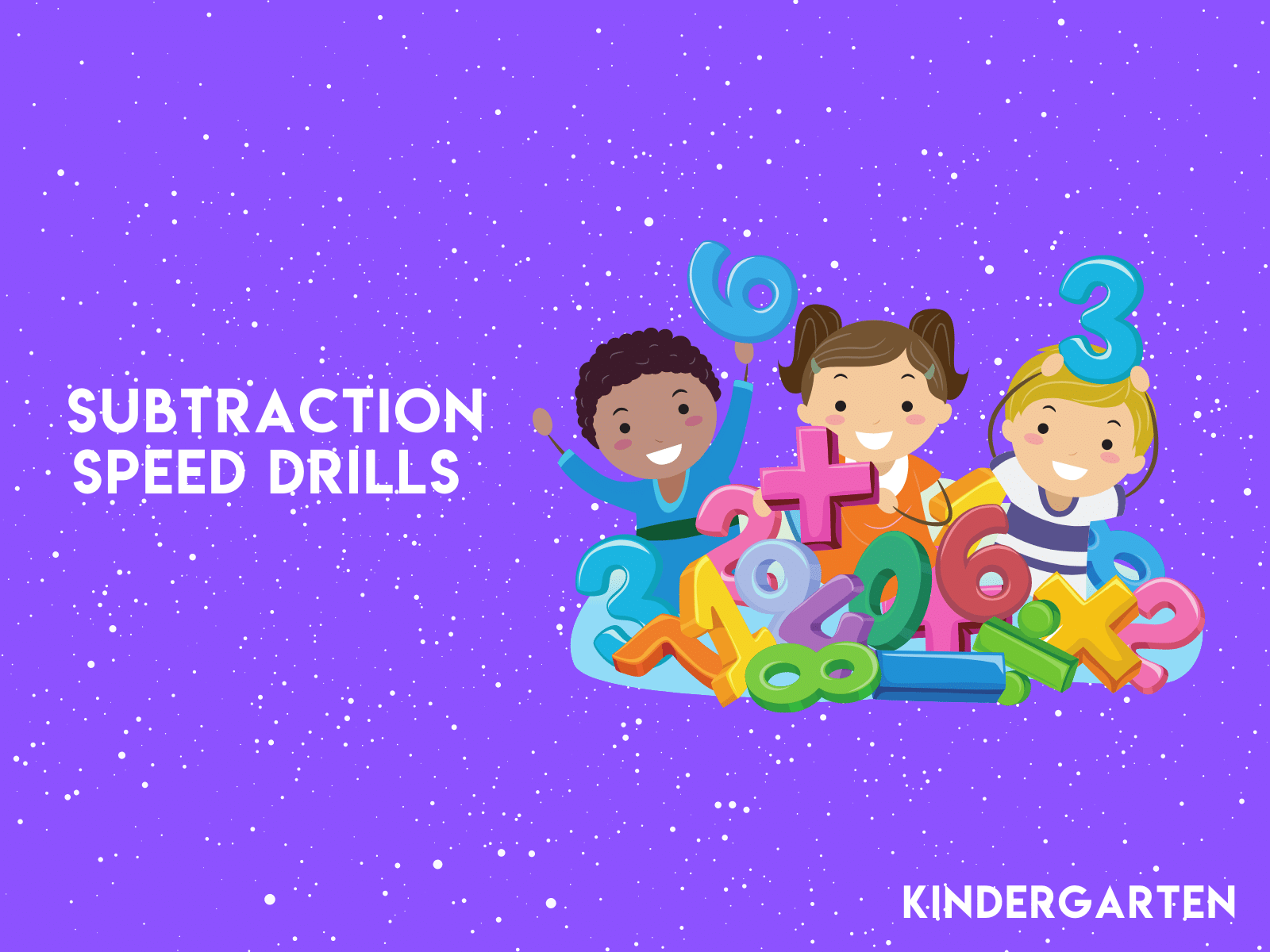 Try all our free learning resources like these kindergarten subtraction speed drills.