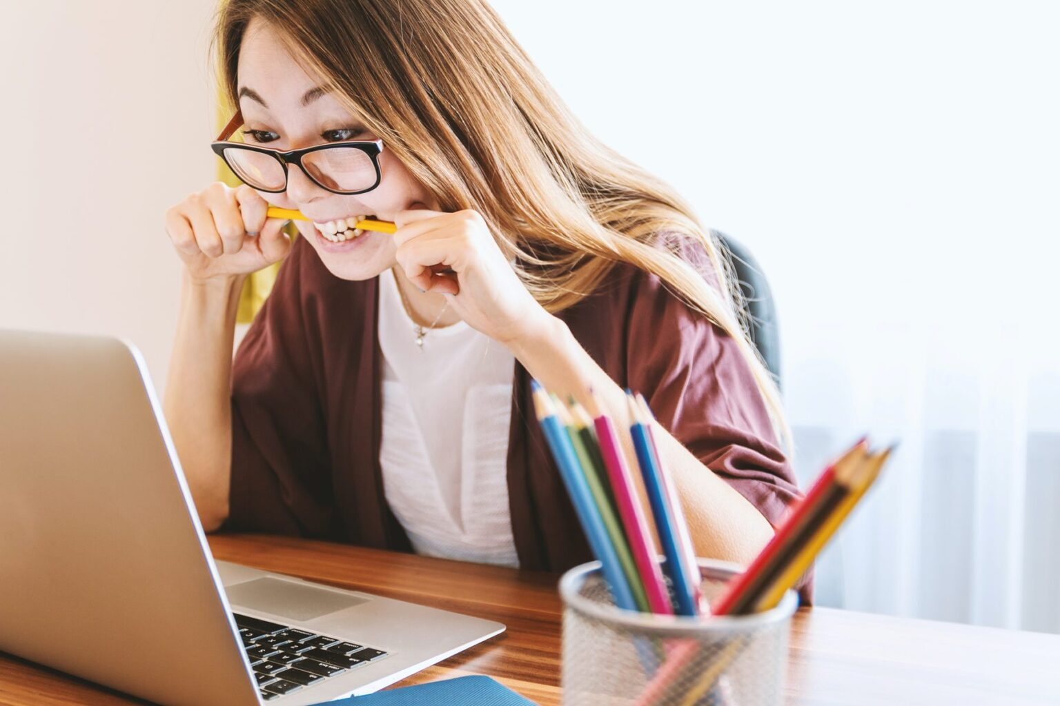 Teacher feeling frustrated from virtual learning