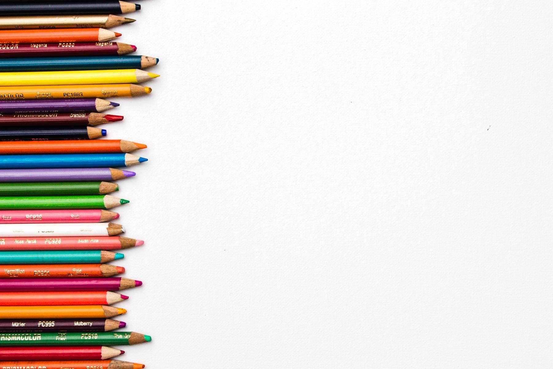 decorative image of colored pencils