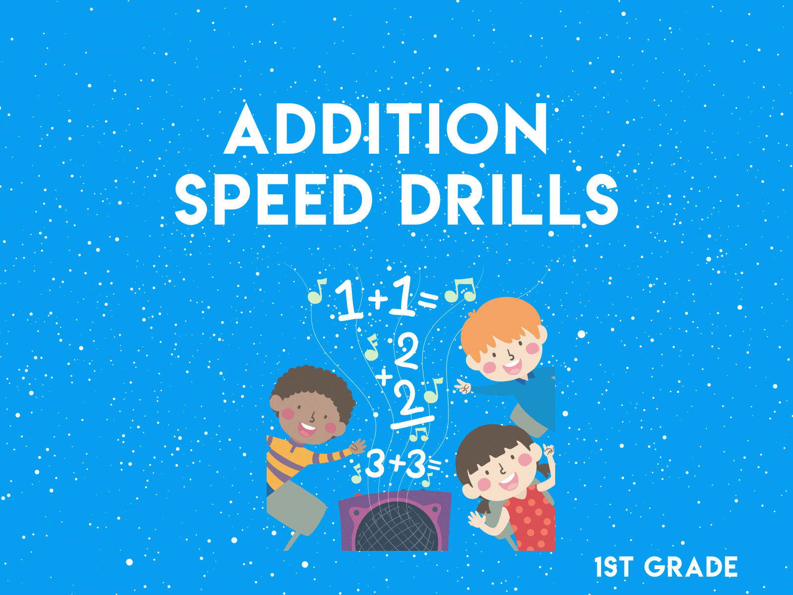 Try these addition speed drill with our free learning resource for first grade.