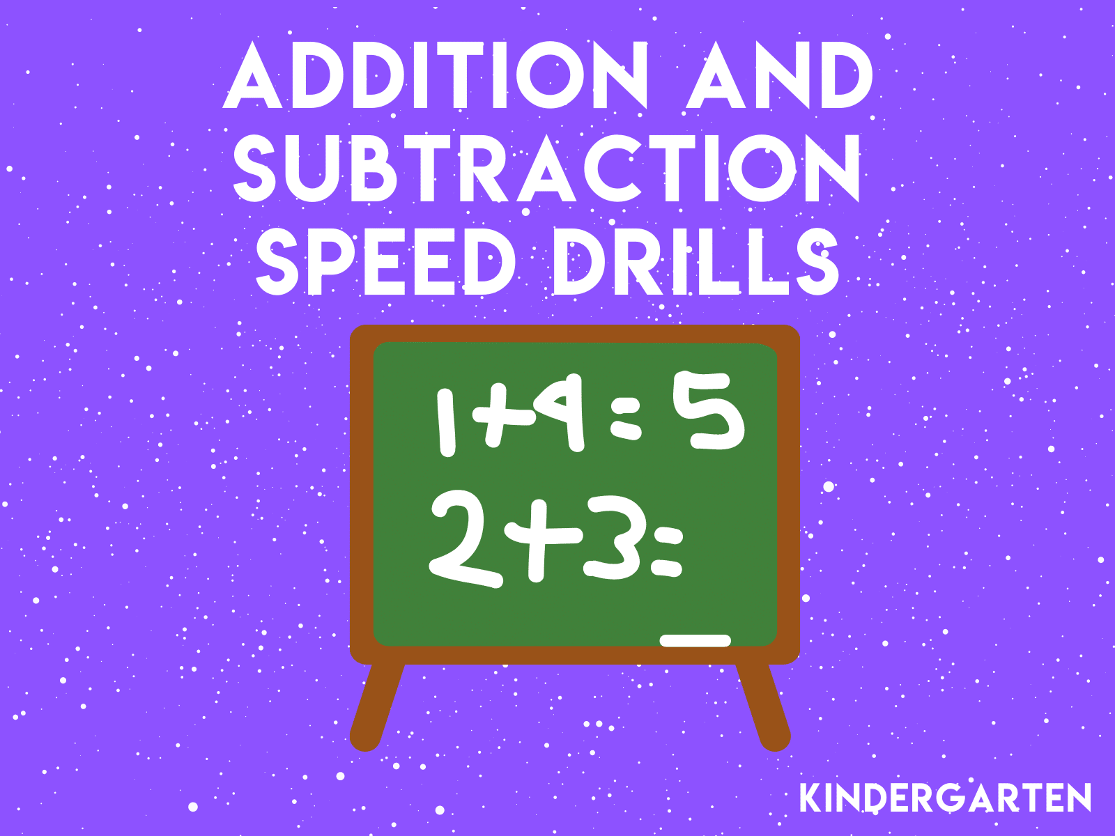 Challenge your kindergarten students with these addition and subtraction speed drills and test their math facts fluency.