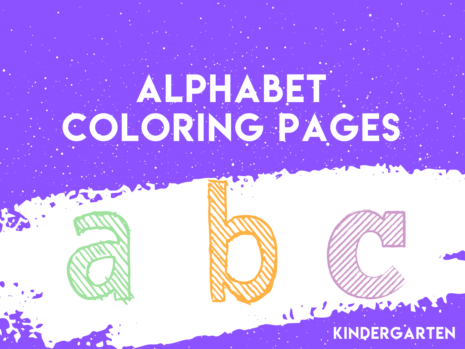 Alphabet coloring pages are a great way to introduce letter writing basics to kindergarteners.