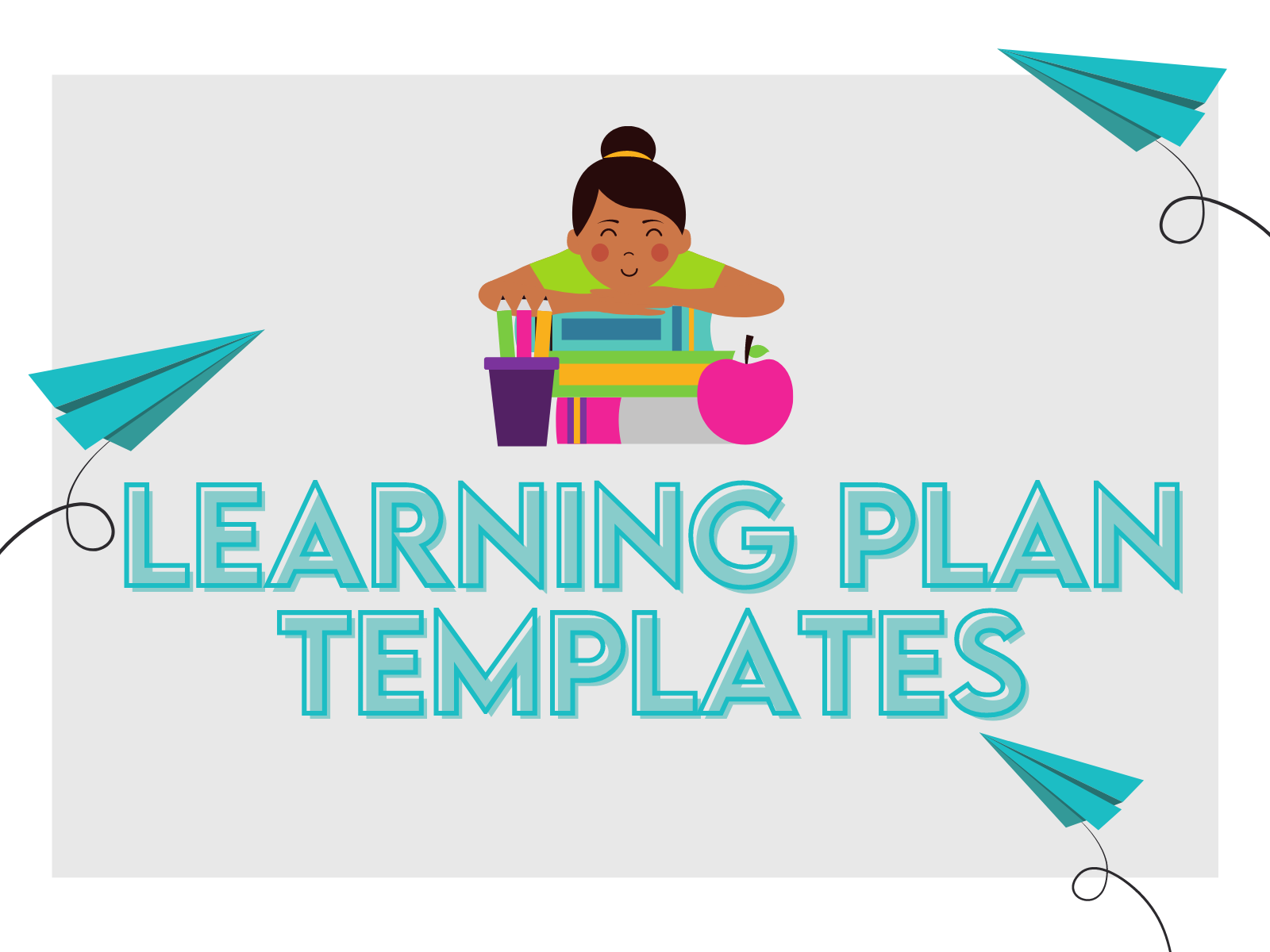 Free learning plan templates for one-hour ELA and math sessions.