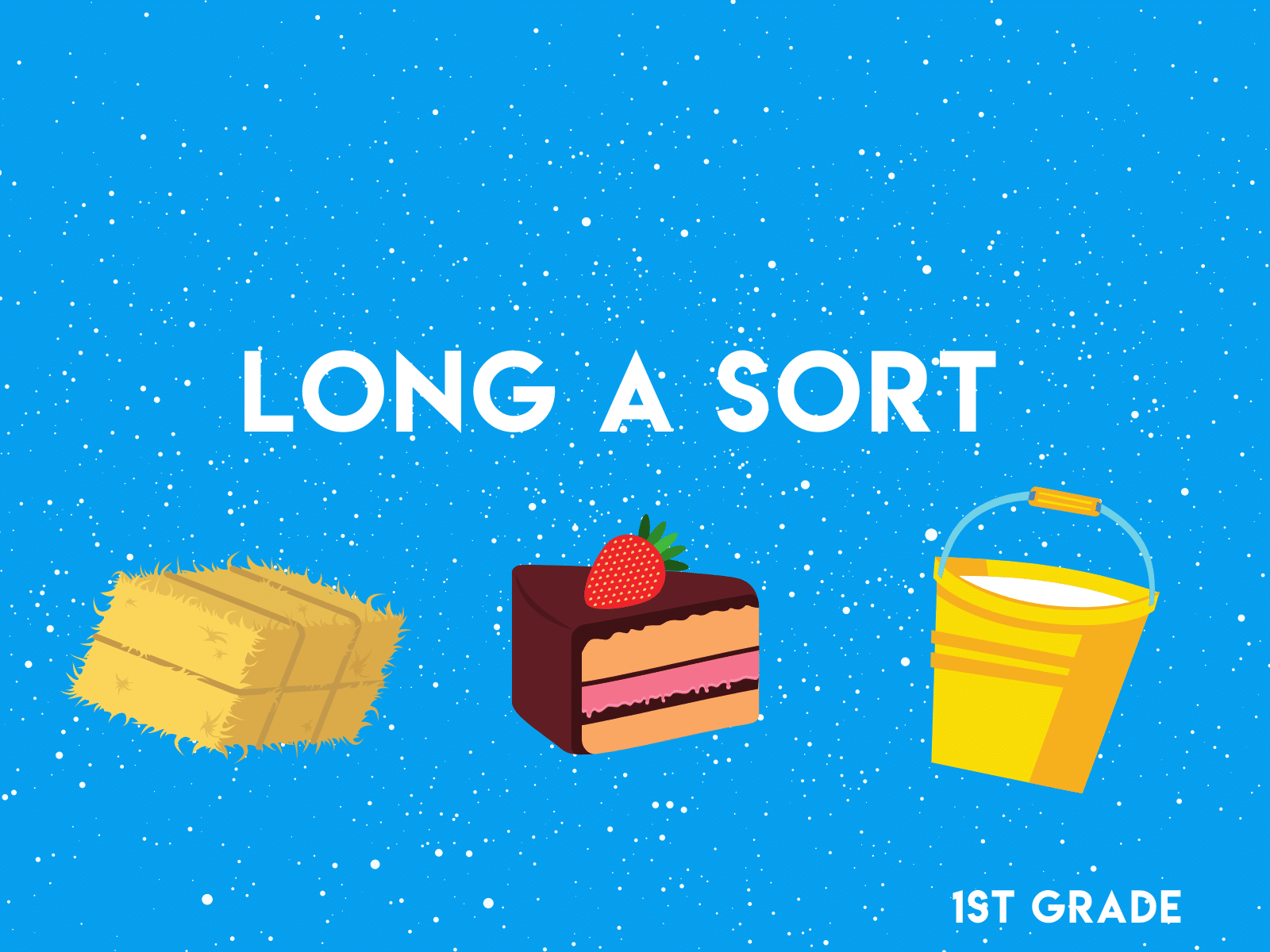 Practice the long a with with these free sorting cards for first graders.