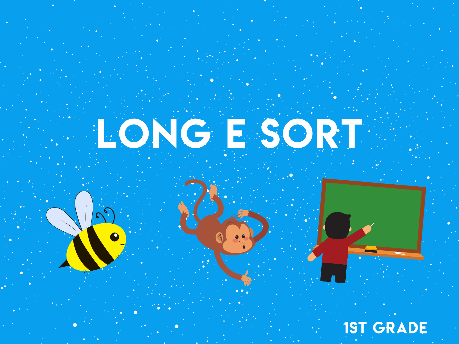 Practice the long e with with these free sorting cards for first graders.