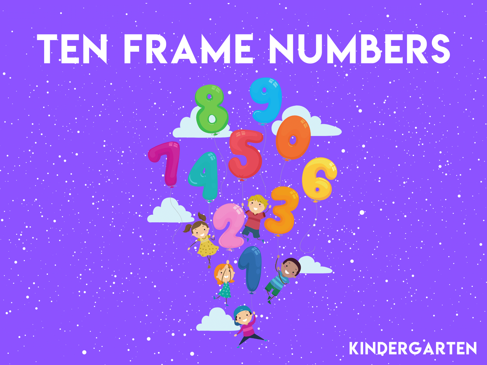 Learn numbers one through ten with this math learning exercise for kindergarten students.