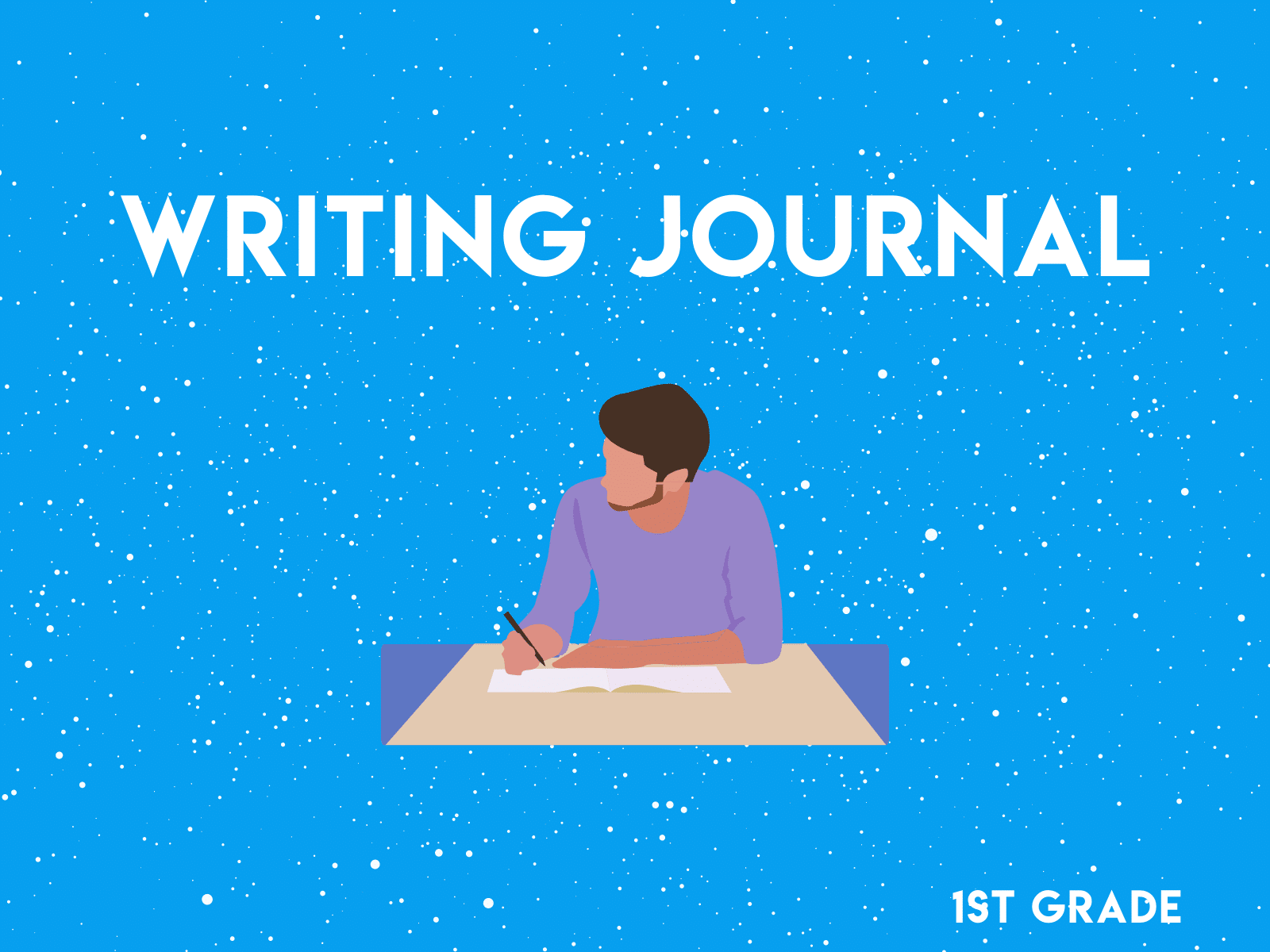First graders can practice narrative, opinion, informative, descriptive, and how-to writing with this free first grade writing prompt worksheet.