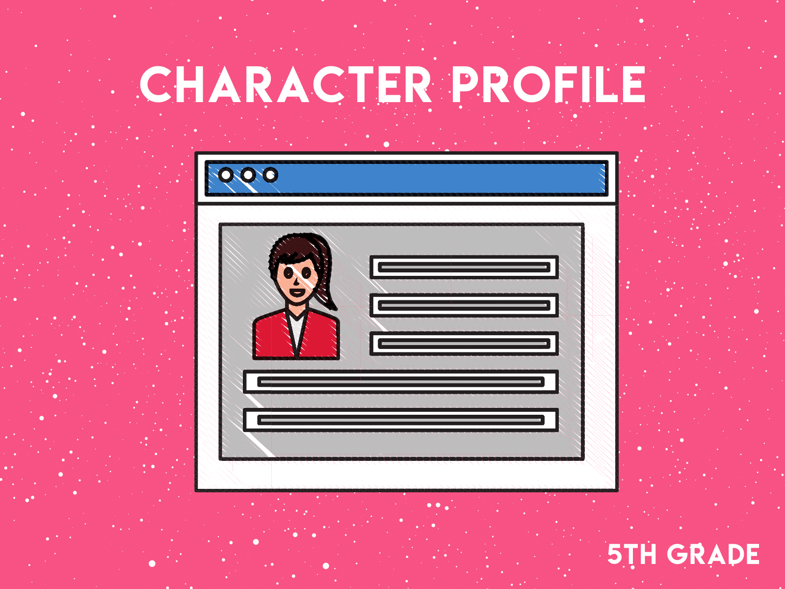 Create a social media profile for the main character in your book   Free reading resource for fifth grade