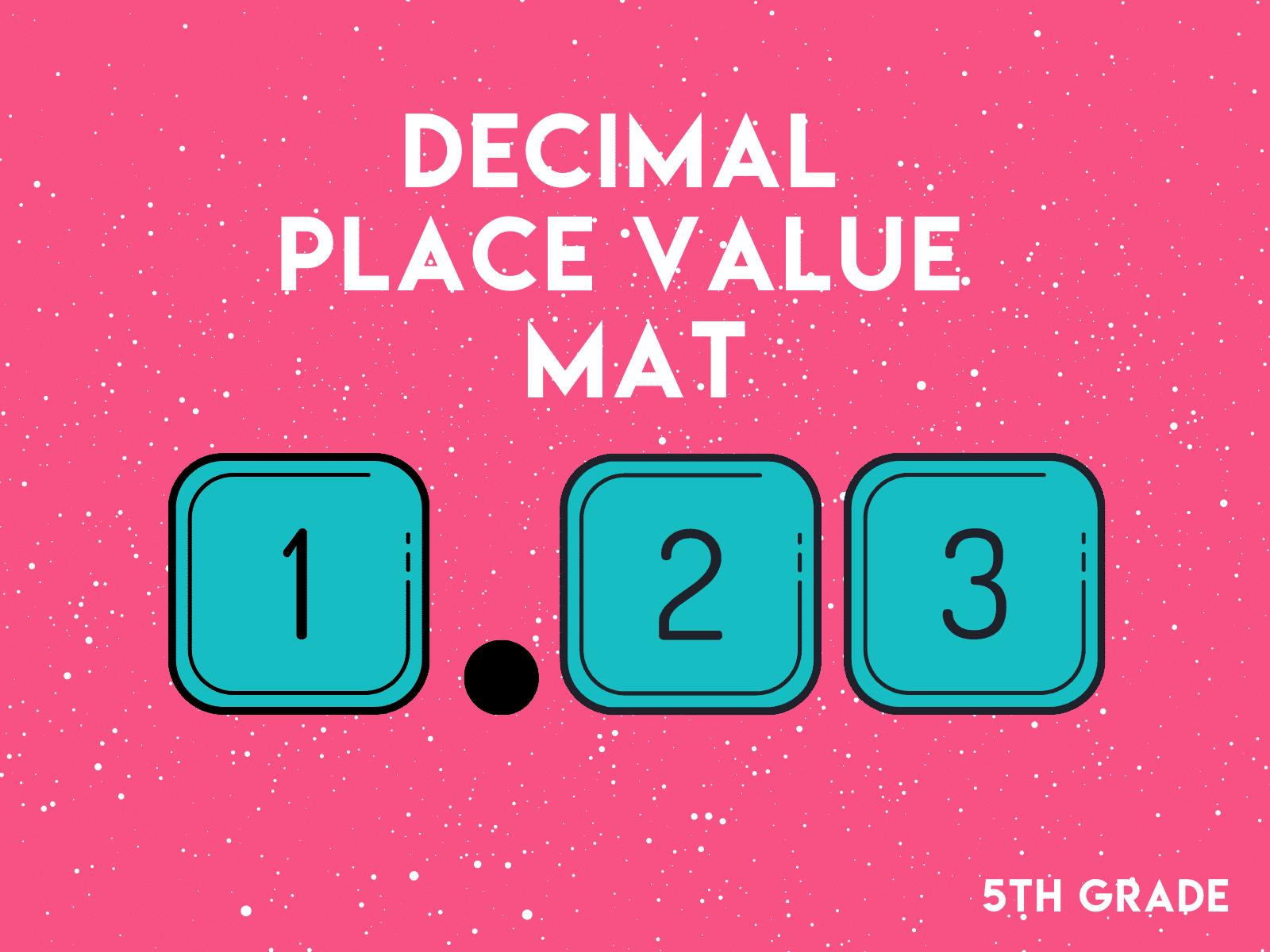 Decimal Place Value Mat   5th Grade Math Worksheet