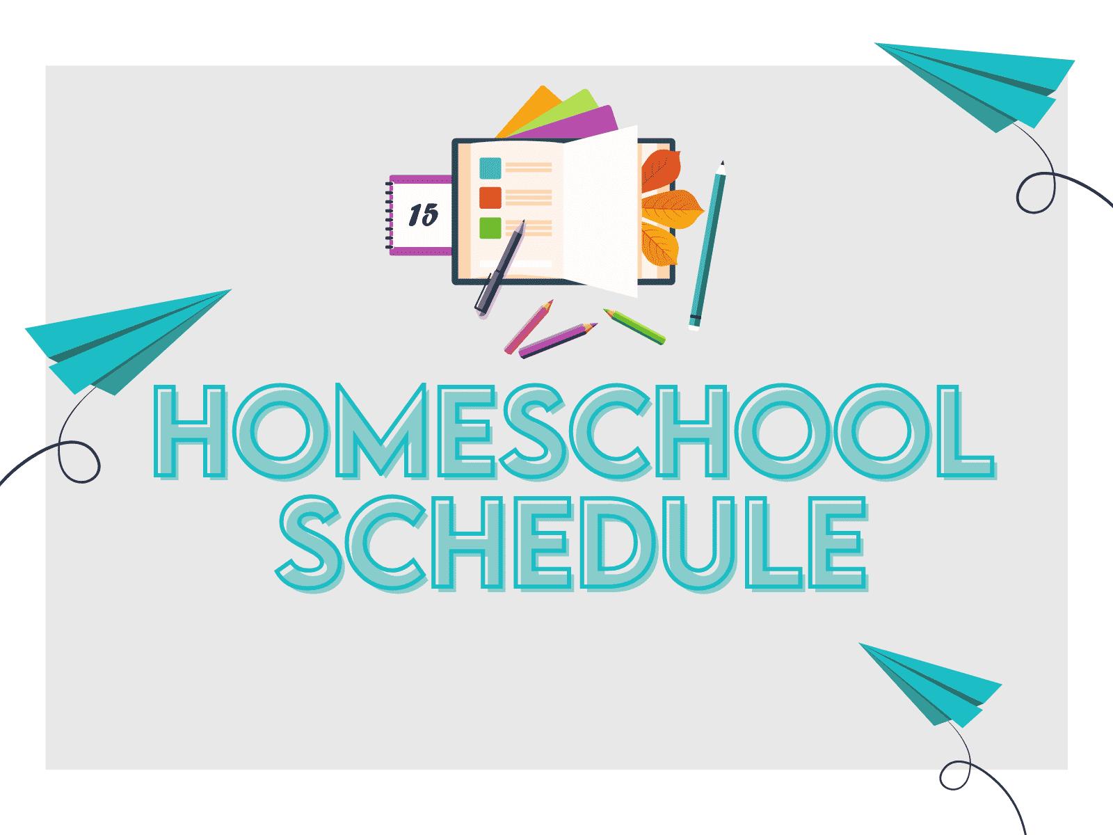 Free homeschool schedule for educators, teachers, and parents.