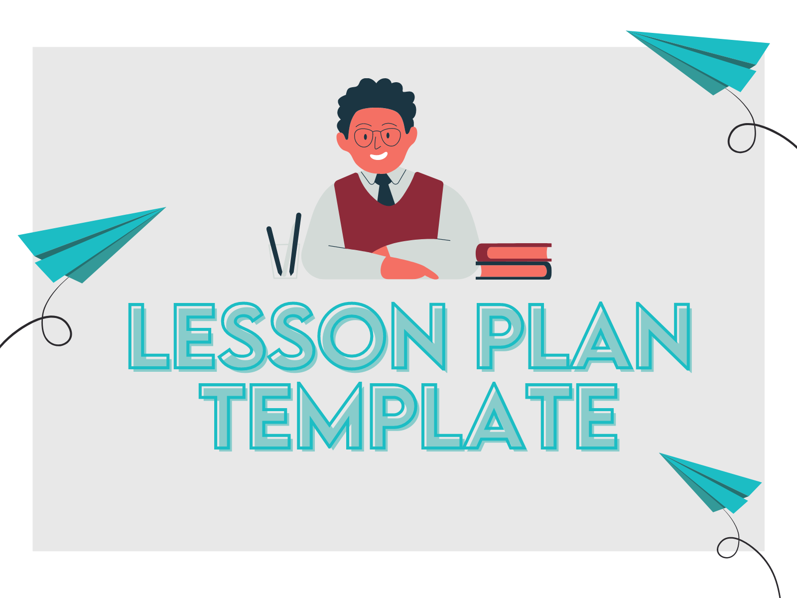 Free lesson plan template for teachers to organize objectives, materials, and notes.