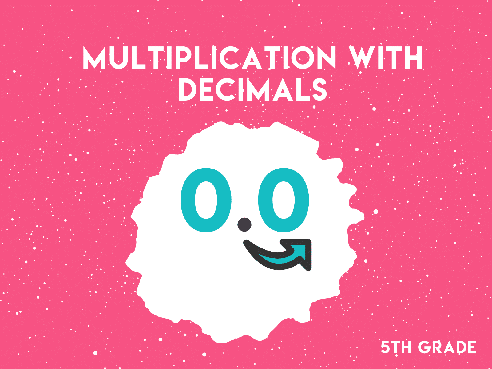 Multiplication with decimals 5th grade math workbook.
