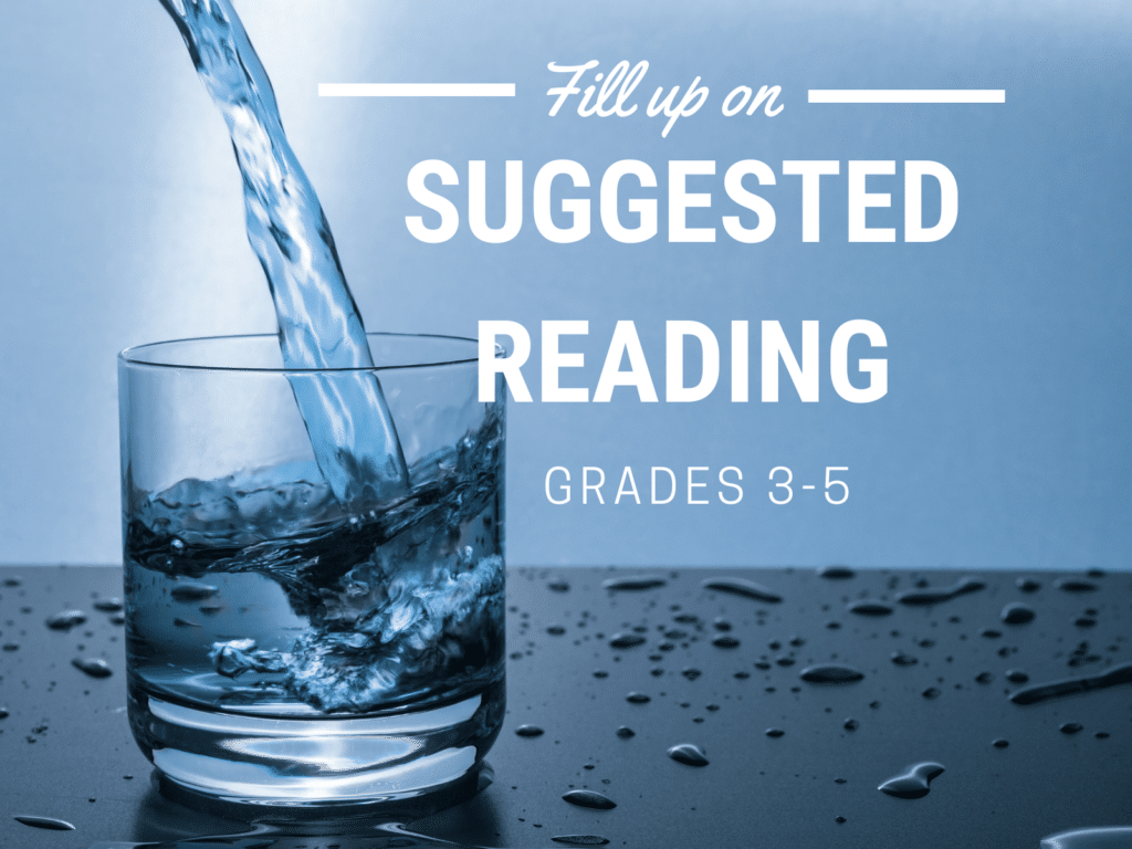 Filling a cup for suggested reading